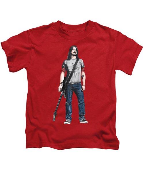 Extraordinary Hero Cutout Kids T-Shirt by Steven Hart