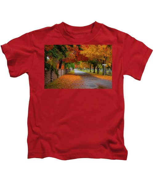 Fall In The Cemetery Kids T-Shirt