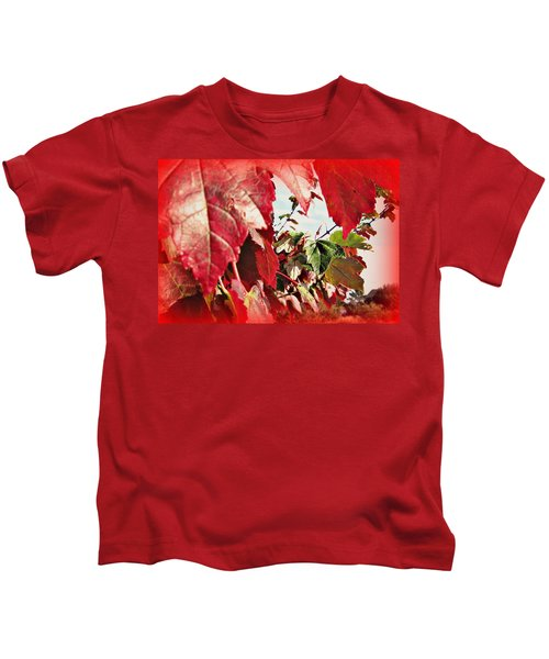 Fall Leaves #10 Kids T-Shirt