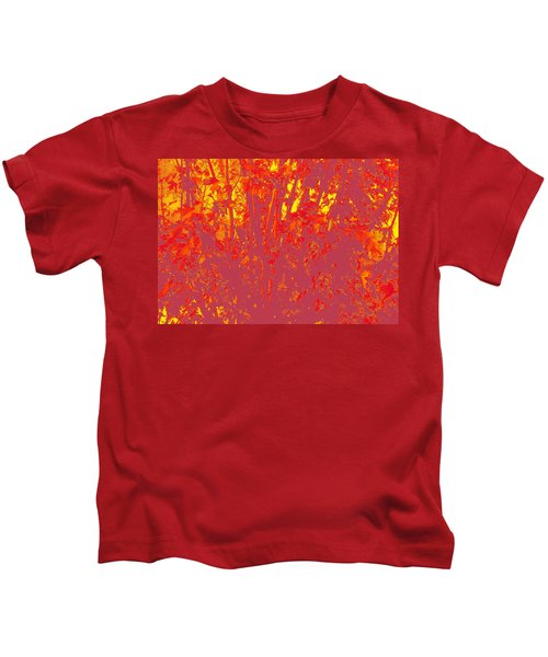 Fall Leaves #4 Kids T-Shirt