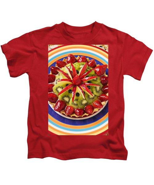 Fancy Tart Pie Kids T-Shirt by Garry Gay