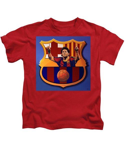 Fc Barcelona Painting Kids T-Shirt