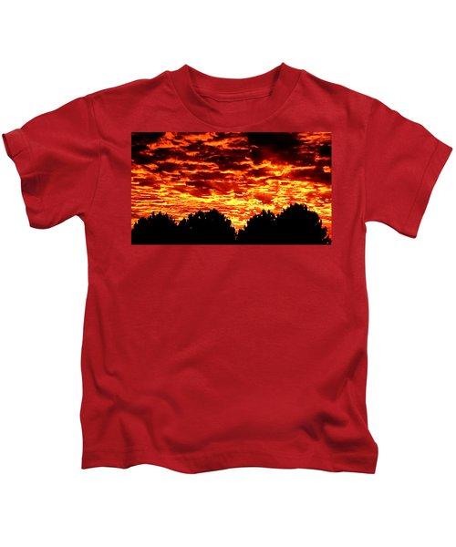Fiery Sunset Kids T-Shirt