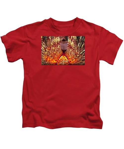 Fire Beneath The Waves Kids T-Shirt