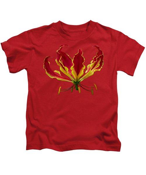 Fire Lily Kids T-Shirt