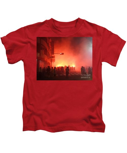 Fireworks During A Temple Procession Kids T-Shirt