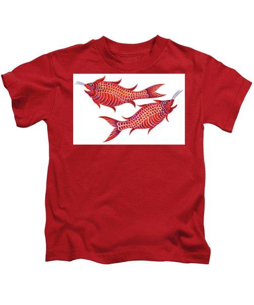 Fish Pisces Kids T-Shirt by Jane Tattersfield