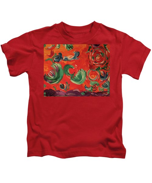 Flight Of Lotus Kids T-Shirt
