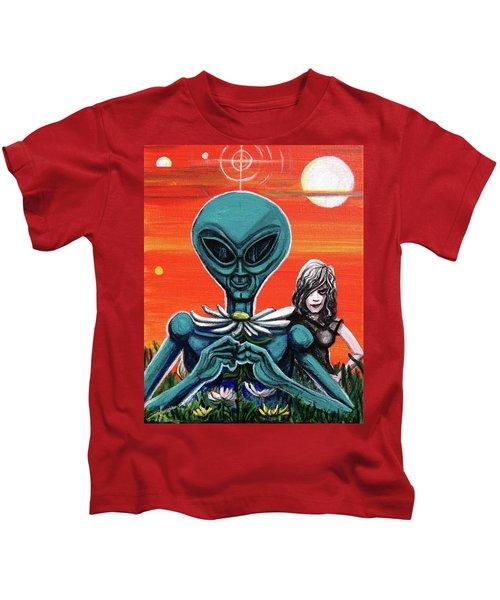 Flower. Alien. Moon Kids T-Shirt