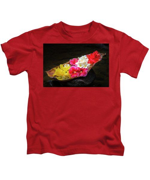 Flower Boat Kids T-Shirt