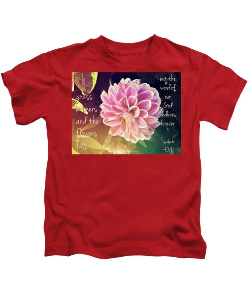 Flower With Scripture Kids T-Shirt