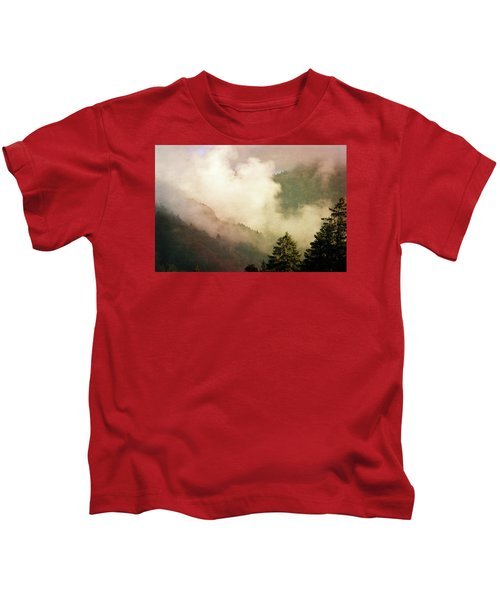 Fog Competes With Sun Kids T-Shirt by AugenWerk Susann Serfezi