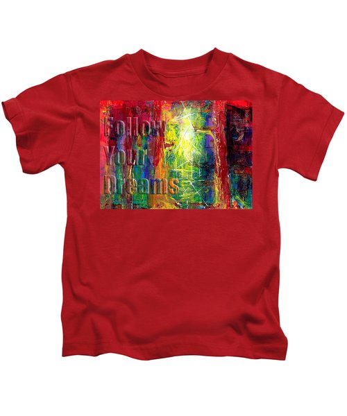Follow Your Dreams Embossed Kids T-Shirt