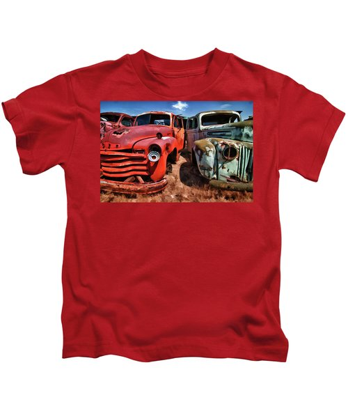 Ford And Chevy Standoff Kids T-Shirt