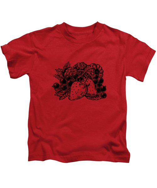 Forest Berries Kids T-Shirt by Irina Sztukowski