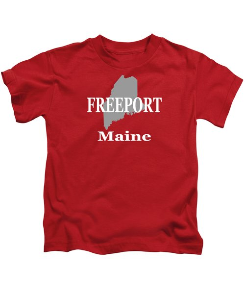 Freeport Maine State City And Town Pride  Kids T-Shirt