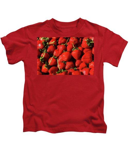 Fresh Strawberries Kids T-Shirt