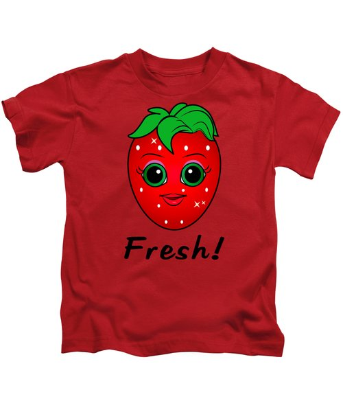 Fresh Strawberry Kids T-Shirt by A