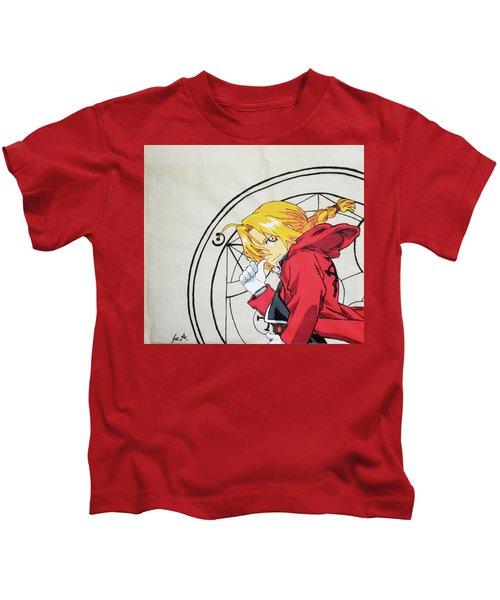 431ba31a3c6 Full Metal Alchemist - Edward Elric Kids T-Shirt