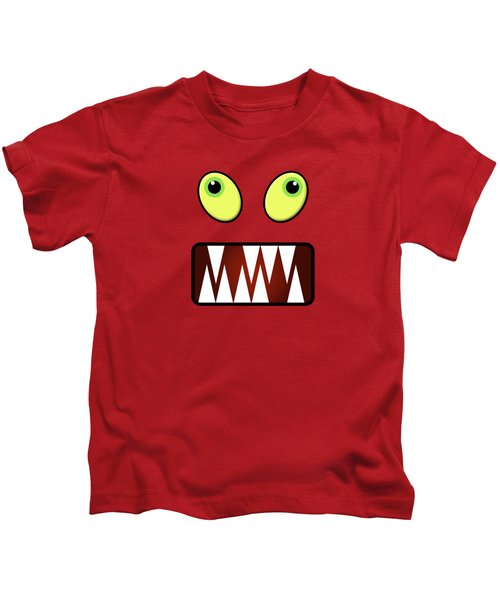 Funny Monster Face Kids T-Shirt