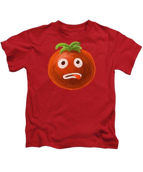 Funny Tomato Kids T-Shirt by Boriana Giormova