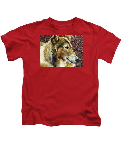 Gentle Spirit - Reveille Viii Kids T-Shirt by Hailey E Herrera