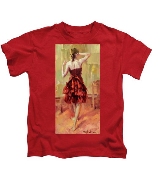 Girl In A Copper Dress IIi Kids T-Shirt