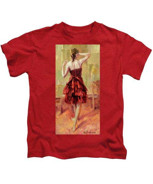 Girl In A Copper Dress IIi Kids T-Shirt