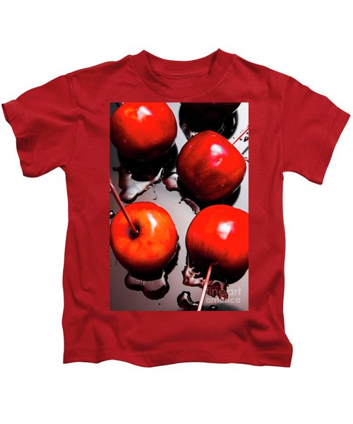 Gleaming Red Candy Apples Kids T-Shirt