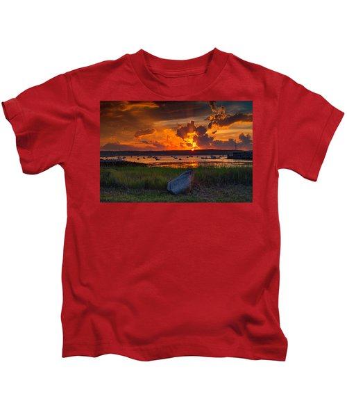 Gloucester Harbor Sunset Kids T-Shirt
