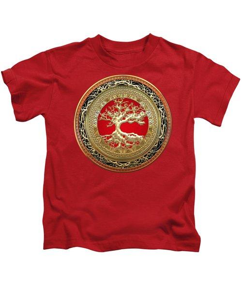Golden Celtic Tree Of Life  Kids T-Shirt