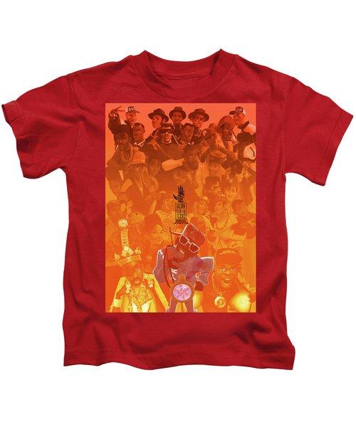 Golden Era Icons Collage 1 Kids T-Shirt