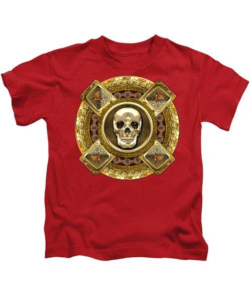 Golden Mictlantecuhtli - Aztec God Of Death Kids T-Shirt