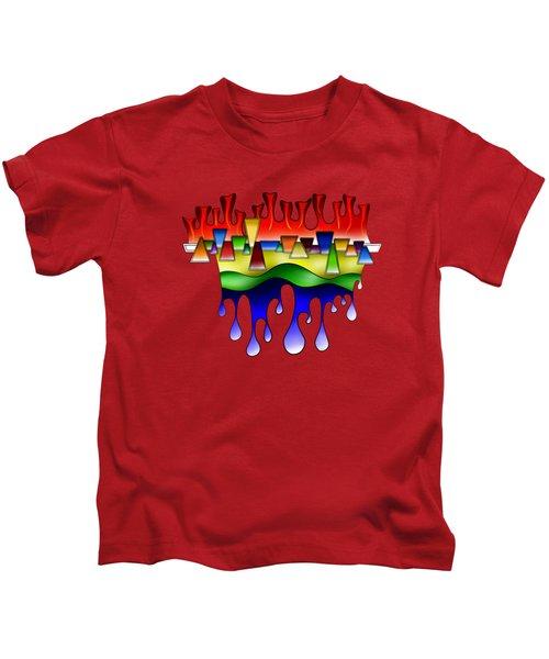 Grafenonci V4 - Digital Abstract Kids T-Shirt