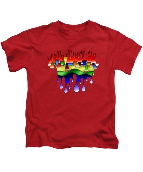 Grafenonci V4 - Digital Abstract Kids T-Shirt