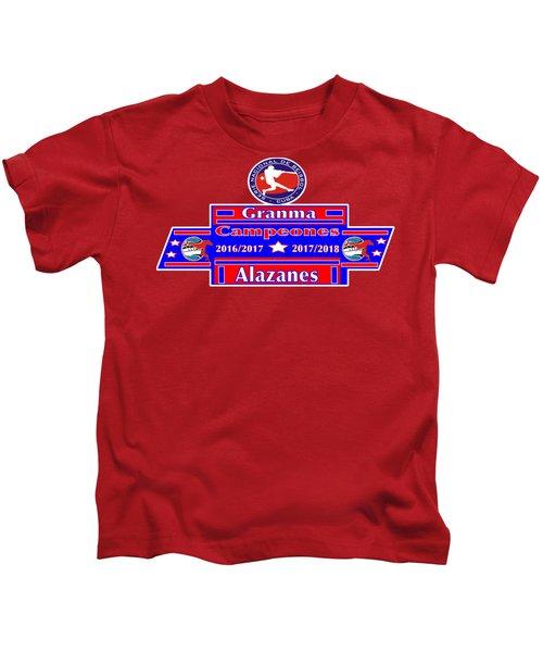 Granma Alazanes 2018 Cuban Baseball Champions Kids T-Shirt