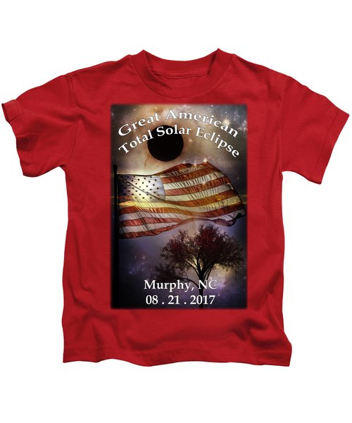 Great American Eclipse American Flag T Shirt Art Kids T-Shirt
