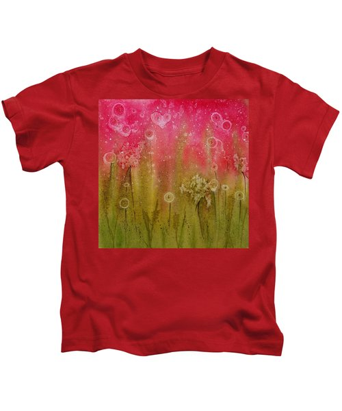 Green Abstract Kids T-Shirt