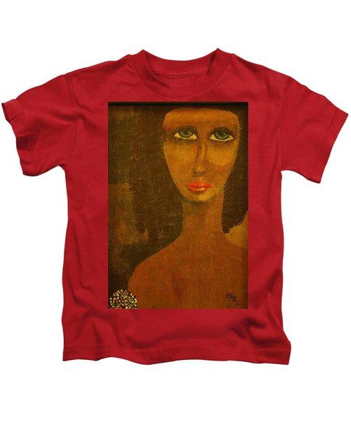 Green Eyes Kids T-Shirt