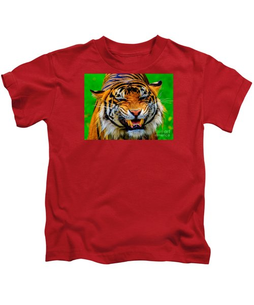 Growling Tiger Kids T-Shirt