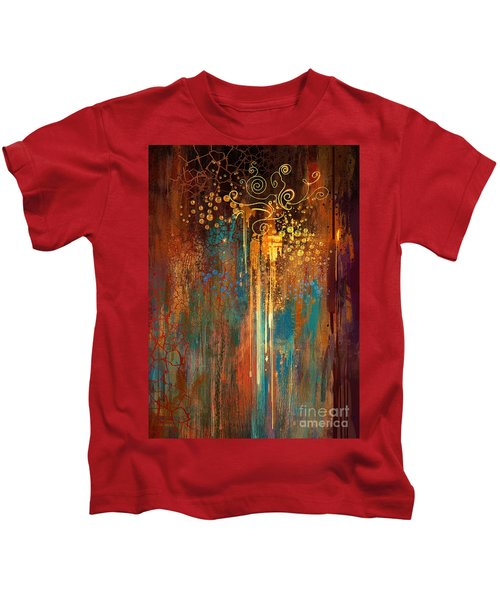 Kids T-Shirt featuring the painting Growth by Tithi Luadthong