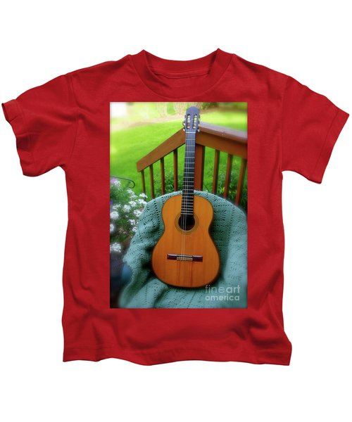 Guitar Awaiting Kids T-Shirt