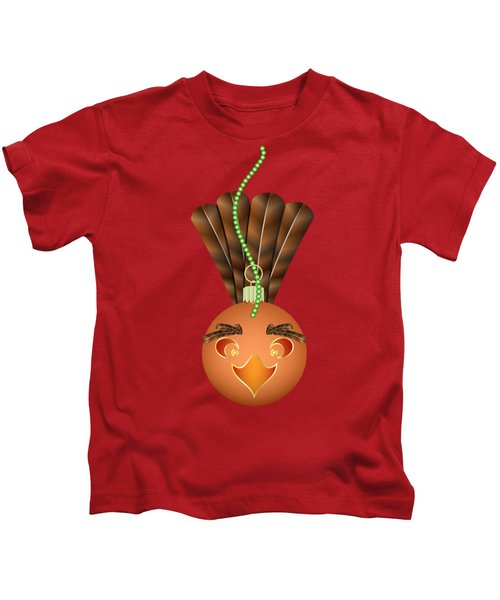 Hallowgivingmas Turkey Ornament Holiday Humor Kids T-Shirt by MM Anderson