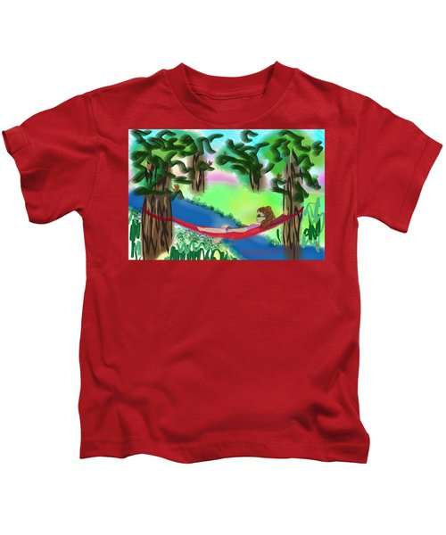 Hammock Under The Chihuahua Trees Kids T-Shirt