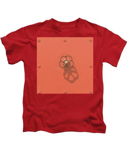 Handwheel - Orange Kids T-Shirt