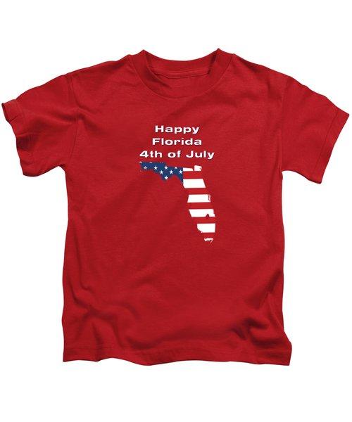 Happy Florida 4th Of July Kids T-Shirt