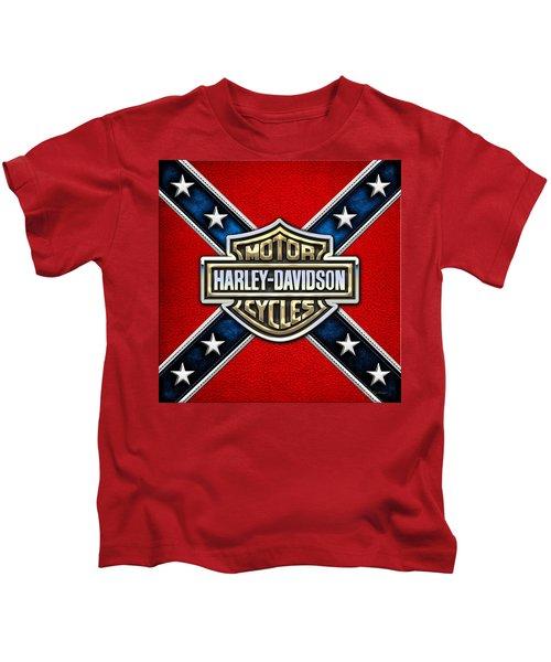 Harley-davidson - 3d Badge Kids T-Shirt