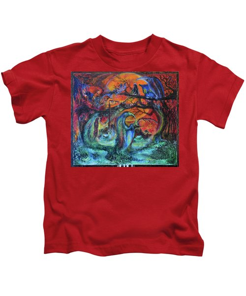 Harvesters Of The Autumnal Swamp Kids T-Shirt