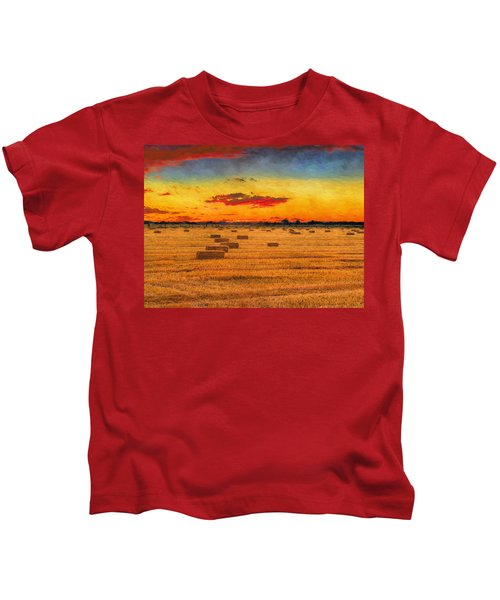Hay Fields Kids T-Shirt