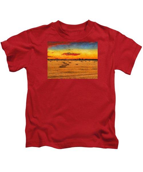 Hay Fields Kids T-Shirt